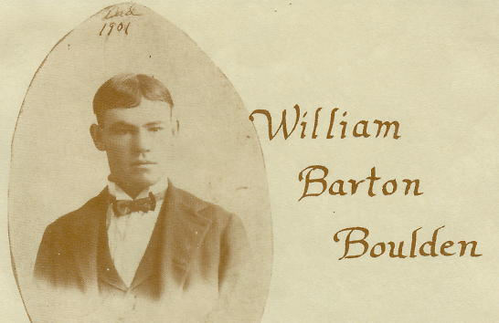 William Barton Boulden as a young man